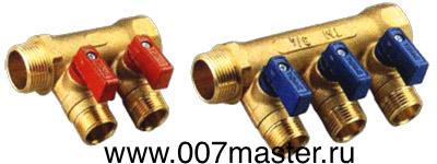 Коллектор для металлопластиков труб